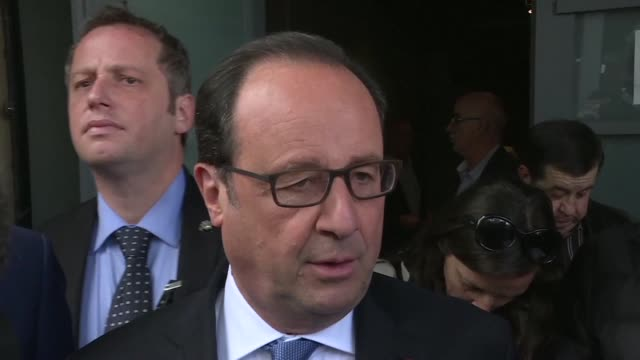 president francois hollande casts his vote in tulle france in the second round of france's presidential election - tulle stock videos and b-roll footage