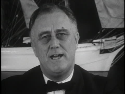president franklin d. roosevelt addresses sufferers of infantile paralysis. - paralysis stock videos & royalty-free footage