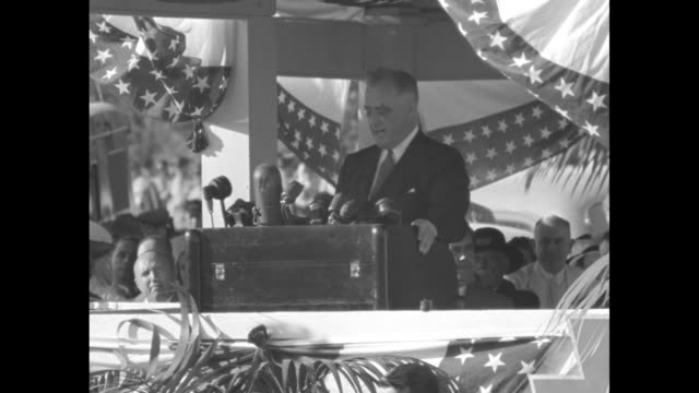 president franklin d roosevelt gives speech from stage at the 75th anniversary of the battle of gettysburg sot here in our land we give thanks that... - gettysburg stock videos & royalty-free footage