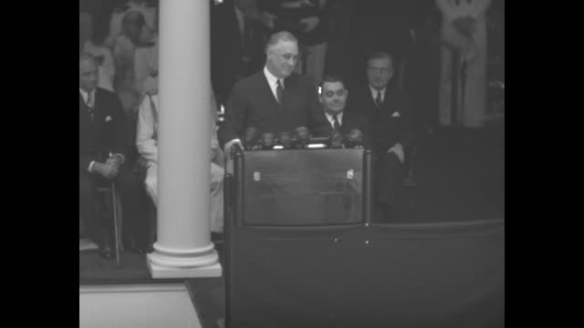 ms president franklin d roosevelt speaking at podium in dahlgren hall addressing naval academy graduates your commander in chief is proud of you good... - diploma stock videos & royalty-free footage