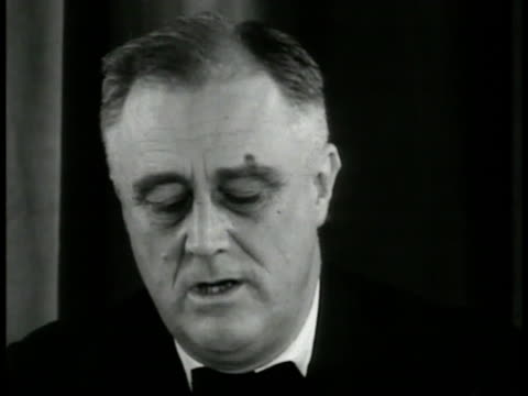 president franklin delano roosevelt sot 'our difficulty with the supreme courtnot as institutionhuman beings within itfew men being fearful of the... - 1937 stock videos and b-roll footage