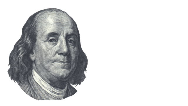 President Franklin is talking - copy space