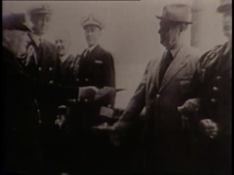 president franklin roosevelt and prime minister winston churchill meet to discuss the atlantic charter. - prime minister of the united kingdom stock videos & royalty-free footage
