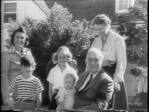 President Franklin Roosevelt Tours Kelly Field by car past planes and soldiers / Roosevelt tours the Air Force Base Randolph Field rides past jeeps /...
