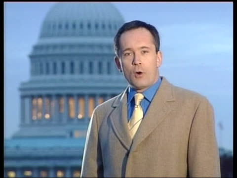 President George Bush Jr unhappy with Iraq weapons inspections ITN Washington DC i/c