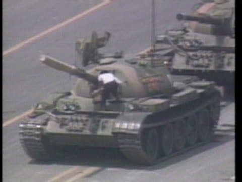 president george h. w. bush discusses the crisis in china. - tiananmen square stock videos & royalty-free footage