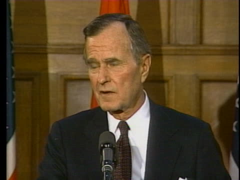 president george h.w. bush says that helicopters should not be used for combat in iraq. - united states and (politics or government) stock videos & royalty-free footage