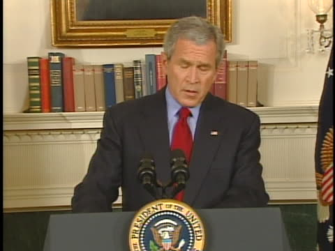 president george w. bush delivers his statement on that day's virginia tech shootings. - 2000s style stock videos & royalty-free footage