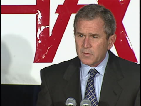 """president george w. bush says: """"our tax code is incredibly unfair for people who live on the outskirts of poverty. if you're a single mother with two... - blooper film clip stock videos & royalty-free footage"""