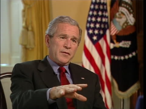 """president george w. bush talks about using """"the google"""" during an interview. full soundbite is as follows: """"occasionally. and one of the things i've... - blooper film clip stock videos & royalty-free footage"""