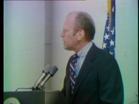 us president gerald ford addresses a crowd at arlington national cemetery on veteran's day - distorted stock videos & royalty-free footage