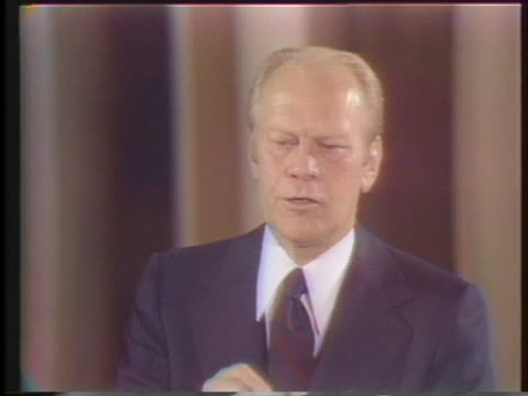 president gerald ford explains his conservative, moderate philosophy. - united states and (politics or government) stock videos & royalty-free footage