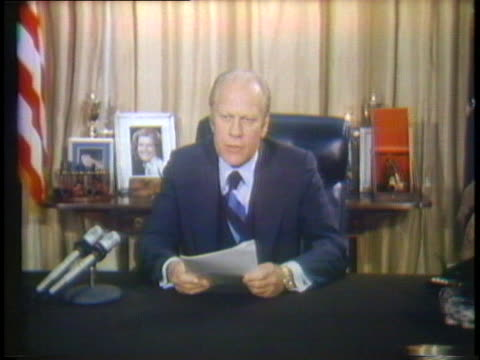 president gerald ford gives a speech after he vetoed a bill concerning greater federal spending. - 1976 stock videos & royalty-free footage