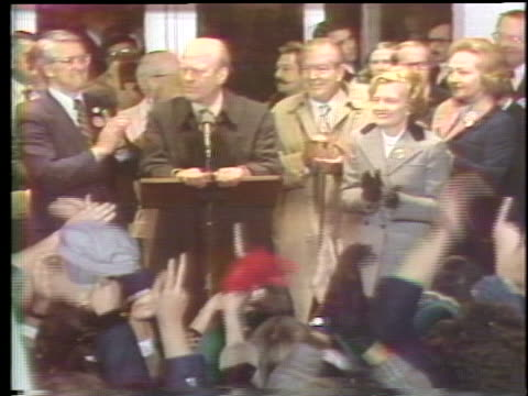 president gerald ford makes an emotional speech upon returning home to grand rapids, michigan, after losing his 1976 election bid. - united states and (politics or government) stock videos & royalty-free footage