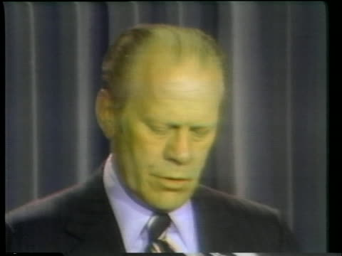 president gerald ford relates the successful rescue of crew and ship after the khmer rouge seized the uss mayaguez. - president stock videos & royalty-free footage