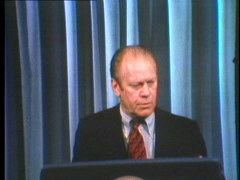 president gerald ford says that he has recommended additional aid to the cambodians. - president stock videos & royalty-free footage