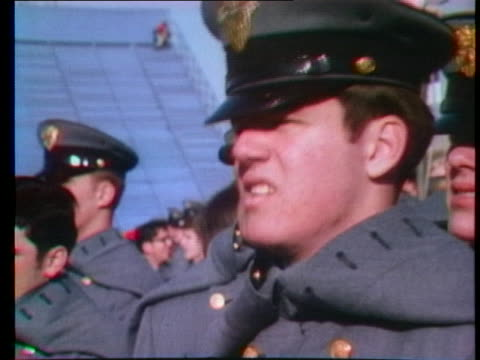 president gerald r. ford and comedian bob hope attend the west point army-navy football game. - bob hope komiker stock-videos und b-roll-filmmaterial