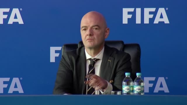president gianni infantino has contracted coronavirus, the world's governing body announced on tuesday - fifa stock videos & royalty-free footage