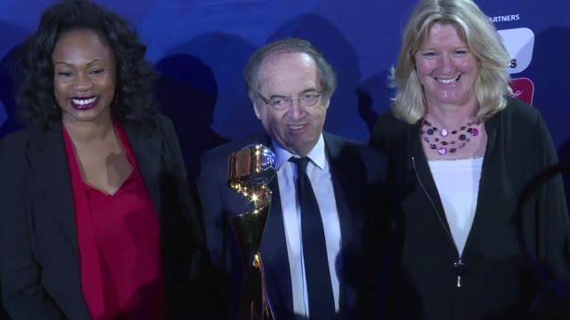 vídeos de stock, filmes e b-roll de president gianni infantino in paris on tuesday for the official launch of the women's world cup 2019 hopes that this edition in france will be the... - gianni infantino