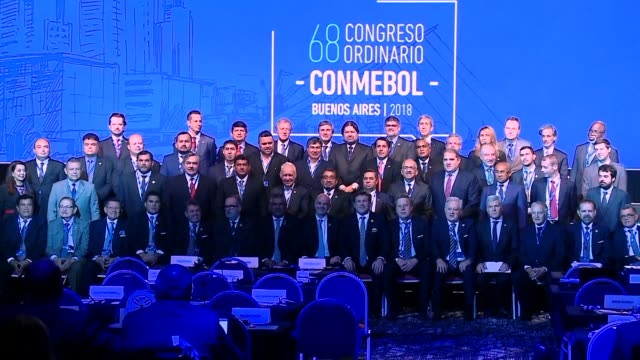 fifa president gianni infantino says the accounts of the south american football confederation are open and transparent since reforms were carried... - gianni infantino stock videos and b-roll footage