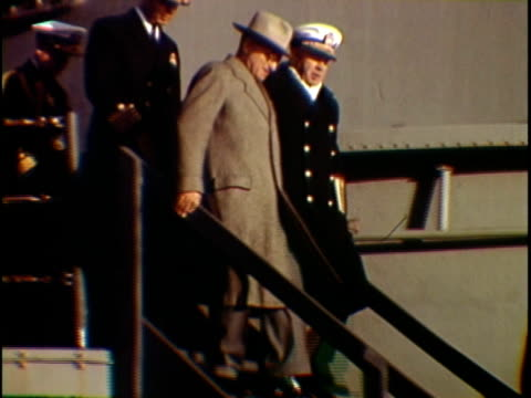 president harry truman greeting soldiers walking through naval vessels, new york city, new york state, usa - harry truman stock videos & royalty-free footage