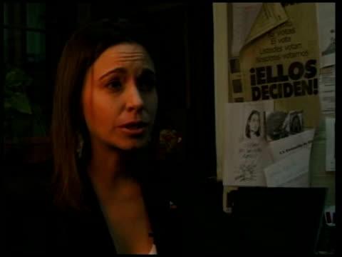 president hugo chavez and tensions with the us maria corina machado interviewed sot - ウゴ・チャベス点の映像素材/bロール