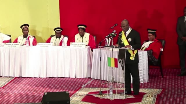 president ibrahim boubacar keita pledged on wednesday to unite mali and end endemic corruption as he was sworn in to lead the deeplydivided west... - endemic stock videos and b-roll footage