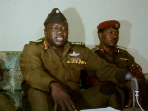 president idi amin talks to press about being - independence stock videos & royalty-free footage