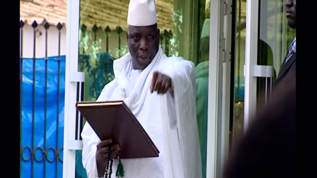 president jammeh claims to have a cure for aids interior shots president yahya jammeh meeting aids patients on february 20, 2007 in unspecified,... - retrovirus stock videos & royalty-free footage