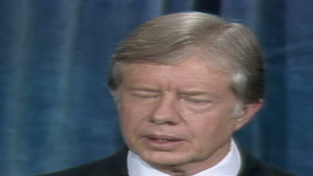 us president jimmy carter discusses energy says a strong economy calls for solving the united states' dependence upon imported oil cites it is... - enacting stock videos & royalty-free footage