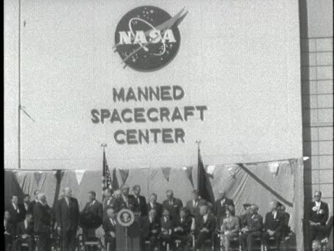 us president john f kennedy and astronaut john glenn visit cape canaveral florida - 1962 stock videos & royalty-free footage