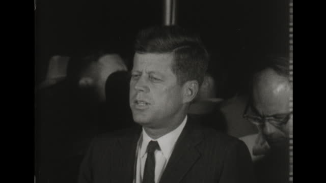 president john f kennedy announces lyndon johnson as running mate - announcement message stock videos & royalty-free footage