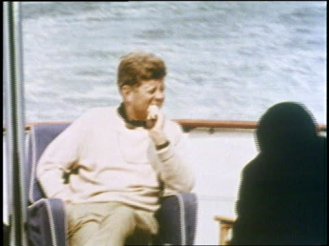 US President John F Kennedy enjoys moments in both his public and private life