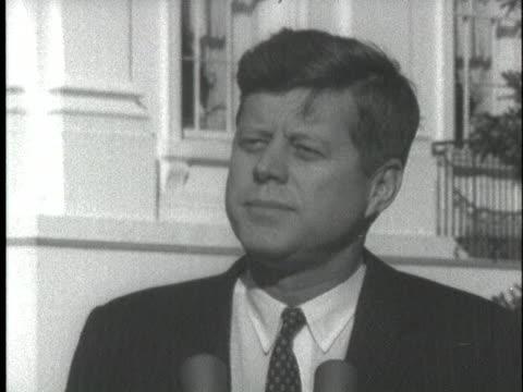 us president john f kennedy expresses the america's thanks on john glenn's successful space flight - 1962 stock videos & royalty-free footage