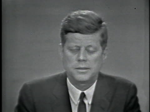 president john f. kennedy gives a news conference about the integration of the university of alabama. - john f. kennedy us president stock videos & royalty-free footage