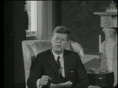 President John F Kennedy gives a speech on the importance of the Peace Corps