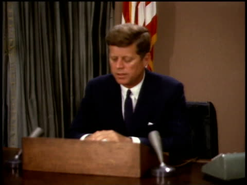 president john f. kennedy giving a speech / washington d.c., united states - john f. kennedy us president stock videos & royalty-free footage