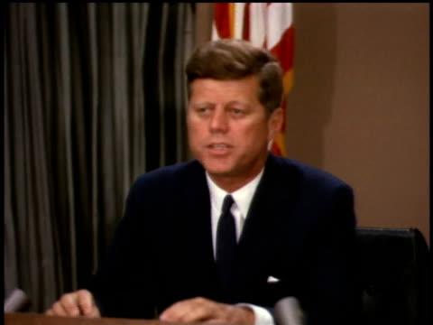 vidéos et rushes de president john f kennedy giving a speech / washington dc united states - 1963