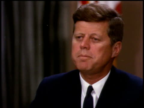 president john f kennedy giving a speech / washington dc united states - speech stock videos & royalty-free footage