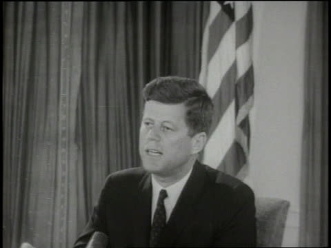 us president john f kennedy names moscow as the source of trouble in the berlin crisis - john f. kennedy us president stock videos and b-roll footage