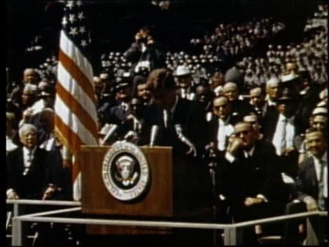 president john f kennedy speaking at rice university / houston texas united states - john f. kennedy us president stock videos and b-roll footage