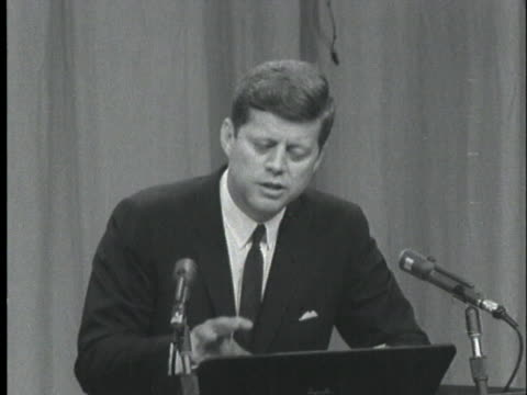president john f. kennedy speaks at a press conference about legality of the freedom riders. - 1961 stock videos & royalty-free footage