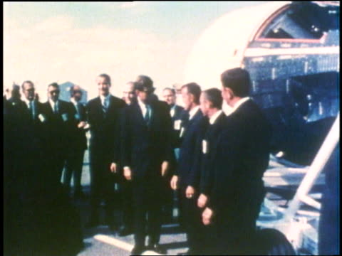 president john f. kennedy talks to astronauts gordon cooper and virgil gus grissom. - 1961 stock videos & royalty-free footage