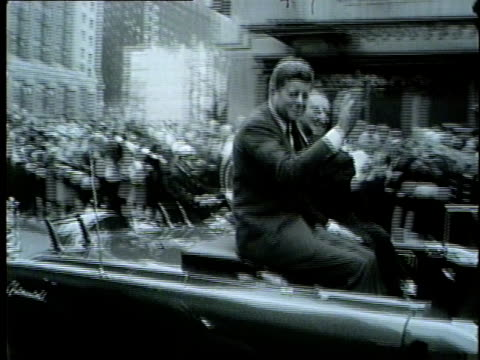 wgn president john f kennedy visited chicago on oct 19 1962 as a part of a congressional campaign trip kennedy rode down the streets of downtown... - election stock videos & royalty-free footage