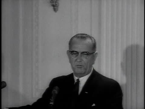 president johnson speaking / washington, district of columbia, united states - 1964 stock videos & royalty-free footage