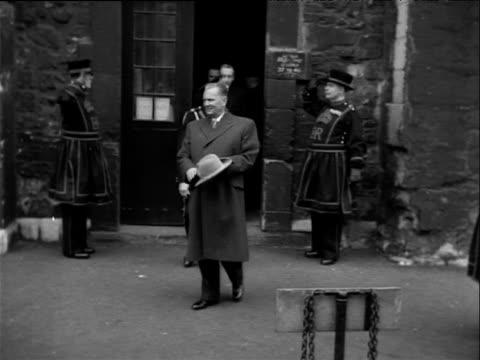 stockvideo's en b-roll-footage met president josip tito is shown around tower of london 17 mar 53 - yeomen warder