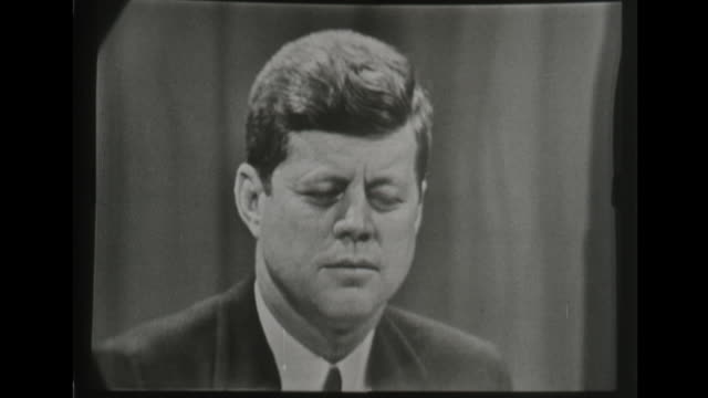 president kennedy speaks about laos at press conference - john f. kennedy us president stock videos & royalty-free footage