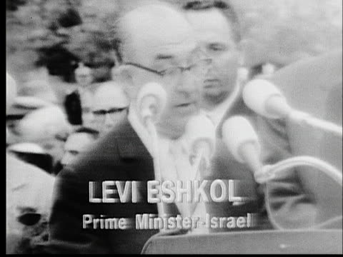 president lyndon b. johnson and israeli prime minister levi eshkol conduct a joint press conference during eshkol's visit to the us. - united states and (politics or government) stock videos & royalty-free footage