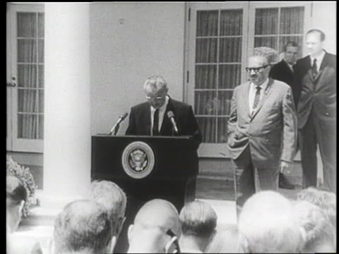 president lyndon b. johnson appoints thurgood marshall as supreme court justice in washington, d.c. - supreme court justice stock videos & royalty-free footage