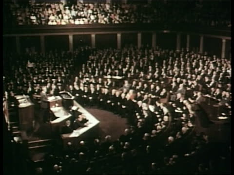 president lyndon b johnson speaks to the us congress - house of representatives stock videos & royalty-free footage